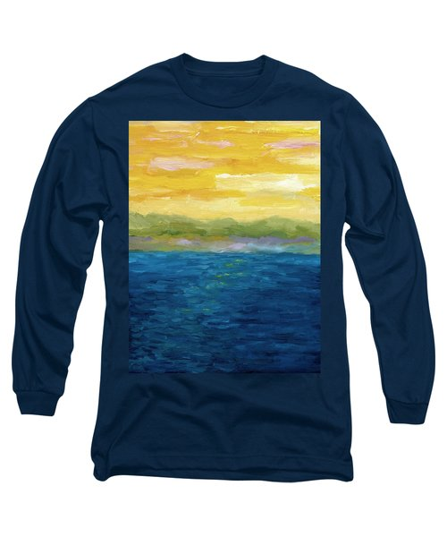 Gold And Pink Sunset  Long Sleeve T-Shirt