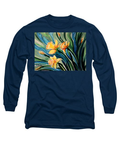 Golden Daffodils Long Sleeve T-Shirt