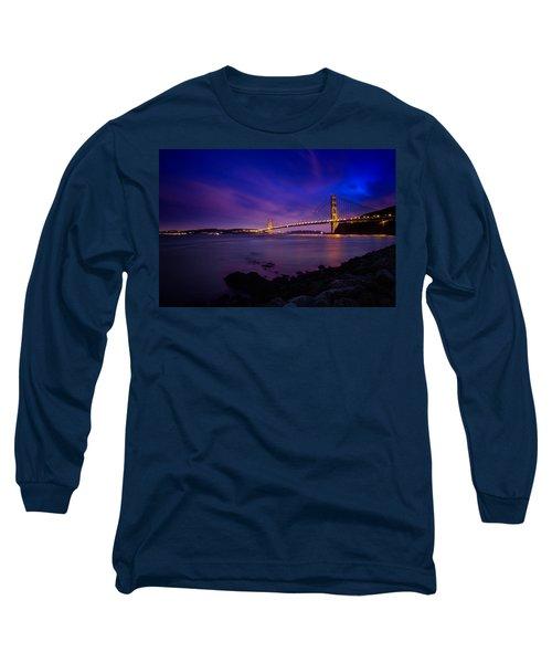 Golden Gate Bridge At Night Long Sleeve T-Shirt