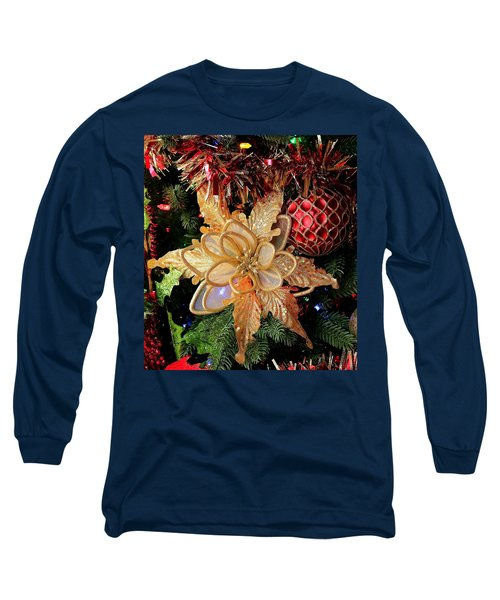 Golden Glitter Christmas Ornaments Long Sleeve T-Shirt