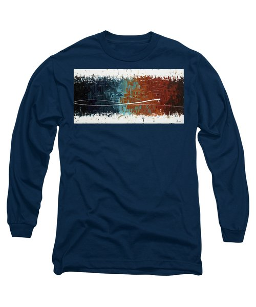 Long Sleeve T-Shirt featuring the painting Good Feeling - Abstract Art by Carmen Guedez