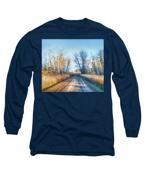 Long Sleeve T-Shirt featuring the photograph Goose Lake Road by Theresa Tahara