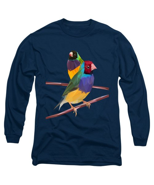 Gouldian Finch Duo Long Sleeve T-Shirt by James Bryson