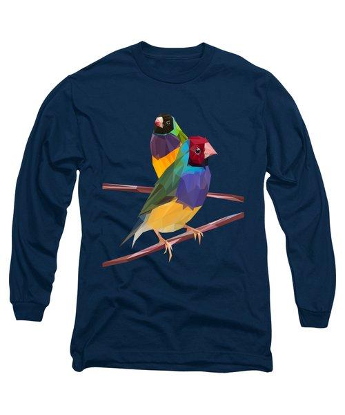 Gouldian Finch Duo Long Sleeve T-Shirt