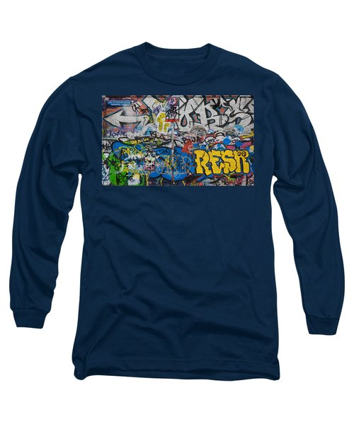 Grafitti On The U2 Wall, Windmill Lane Long Sleeve T-Shirt by Panoramic Images