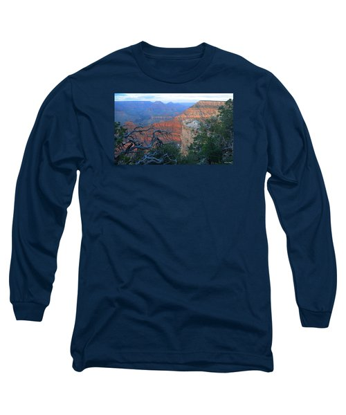 Grand Canyon South Rim - Red Hues At Sunset Long Sleeve T-Shirt