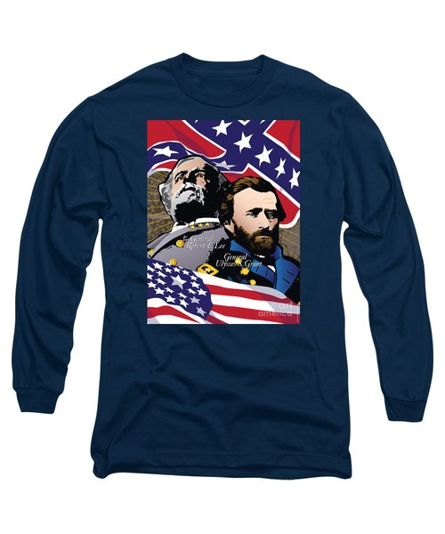 Grant And Lee At Appomattox Long Sleeve T-Shirt