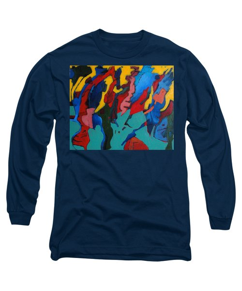 Long Sleeve T-Shirt featuring the painting Gravity Prevails by Bernard Goodman
