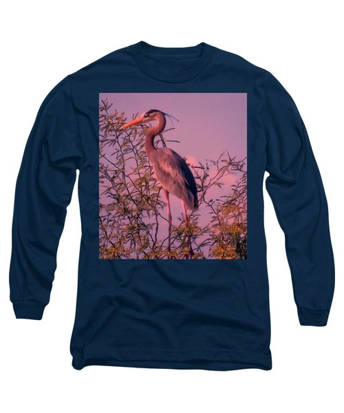Great Blue Heron - Artistic 6 Long Sleeve T-Shirt