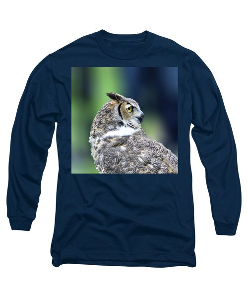 Great Horned Owl Profile Long Sleeve T-Shirt