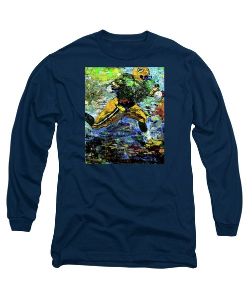 Long Sleeve T-Shirt featuring the digital art Green Bay Packers by Walter Fahmy