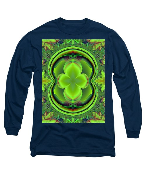 Green Clover Long Sleeve T-Shirt