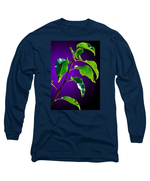 Green Leaves Long Sleeve T-Shirt by Brian Stevens