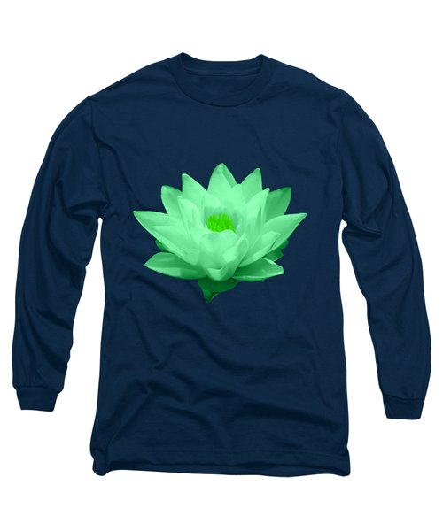 Green Lily Blossom Long Sleeve T-Shirt by Shane Bechler