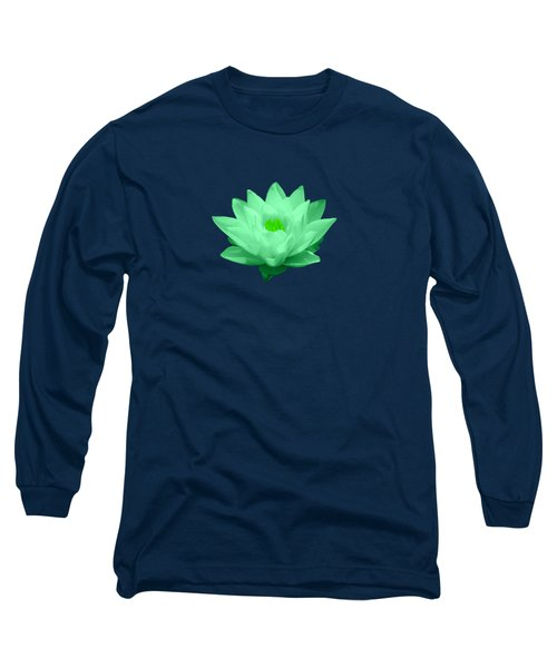 Green Lily Blossom Long Sleeve T-Shirt