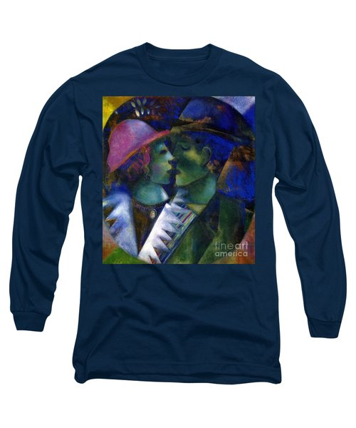 Green Lovers Long Sleeve T-Shirt by Marc Chagall