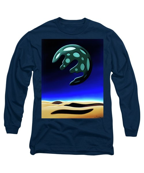 Green Moon Rising Long Sleeve T-Shirt