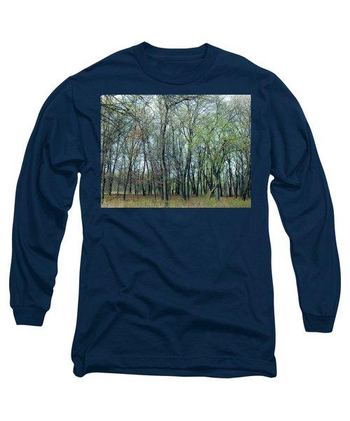 Green Pushing Out Long Sleeve T-Shirt