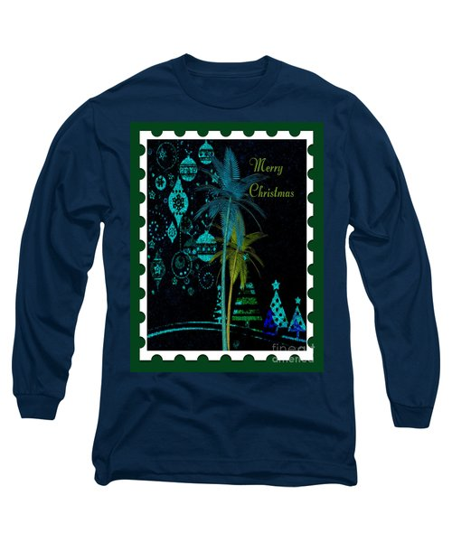 Long Sleeve T-Shirt featuring the digital art Green Stamp by Megan Dirsa-DuBois