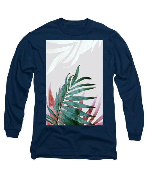 Green Tropical Leaves, Fern Plant Long Sleeve T-Shirt
