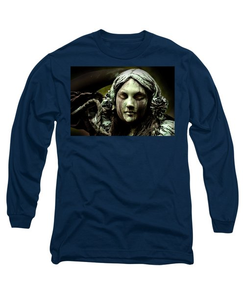 Green Woman A Portrait Long Sleeve T-Shirt