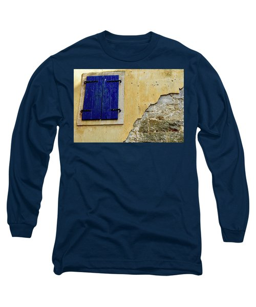 Groznjan Istrian Hill Town Stonework And Blue Shutters  - Istria, Croatia Long Sleeve T-Shirt