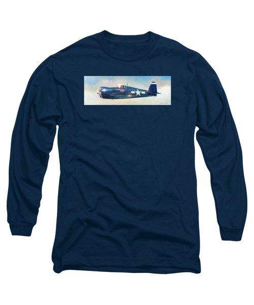 Grumman F6f-5 Hellcat Long Sleeve T-Shirt