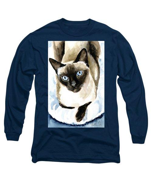 Guardian Angel - Siamese Cat Portrait Long Sleeve T-Shirt