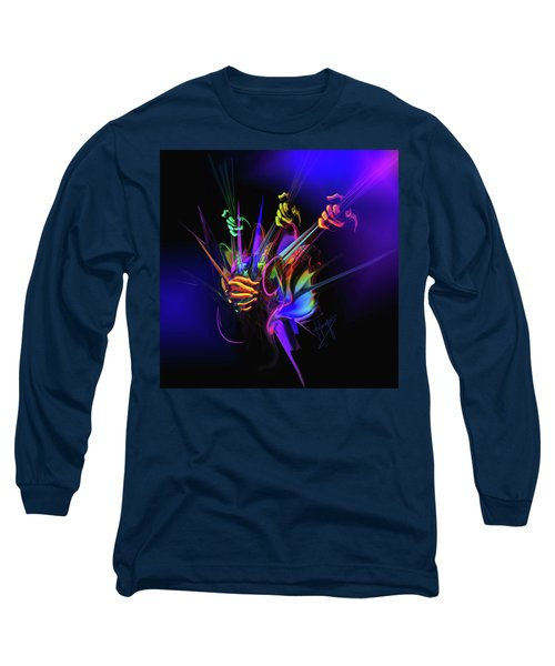 Guitar 3000 Long Sleeve T-Shirt by DC Langer