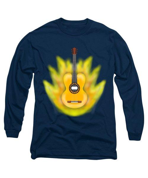 Guitar On Fire Long Sleeve T-Shirt