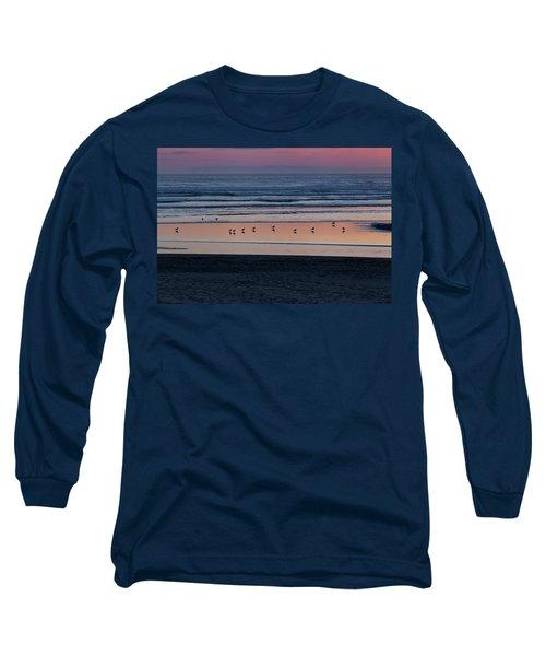 Gulls At Sunset Long Sleeve T-Shirt