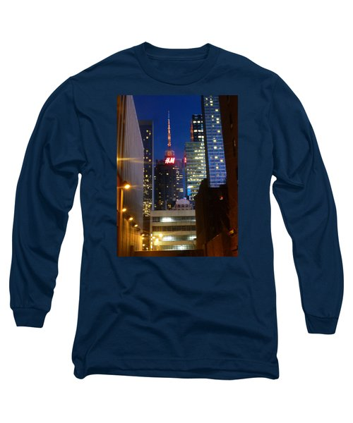 Long Sleeve T-Shirt featuring the photograph H M Building by Helen Haw
