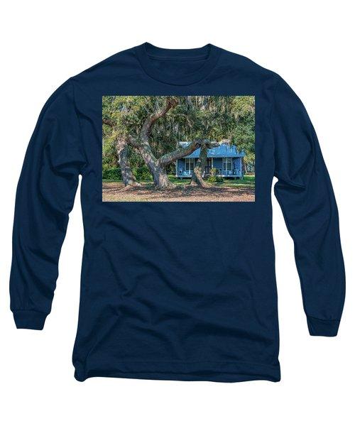 Haint Blue Long Sleeve T-Shirt
