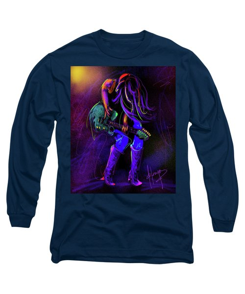Hair Guitar Long Sleeve T-Shirt by DC Langer