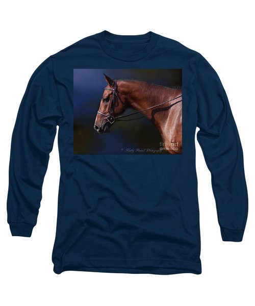 Handsome Profile Long Sleeve T-Shirt by Kathy Russell