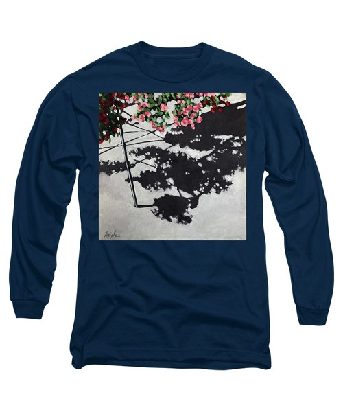 Hanging Shadows - Floral Long Sleeve T-Shirt