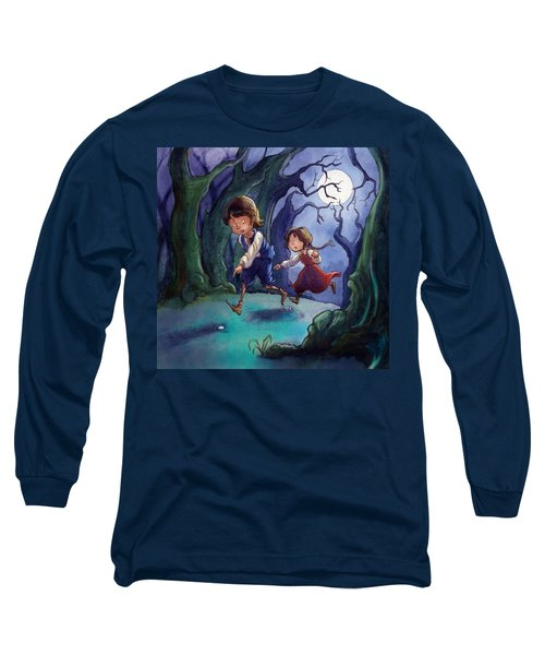 Hansel And Gretel Pebbles Long Sleeve T-Shirt by Andy Catling