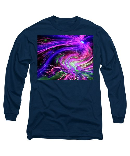 Happy New Year 2017 Long Sleeve T-Shirt by Barbara Tristan