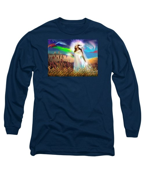 Long Sleeve T-Shirt featuring the digital art Harvest Bride by Dolores Develde