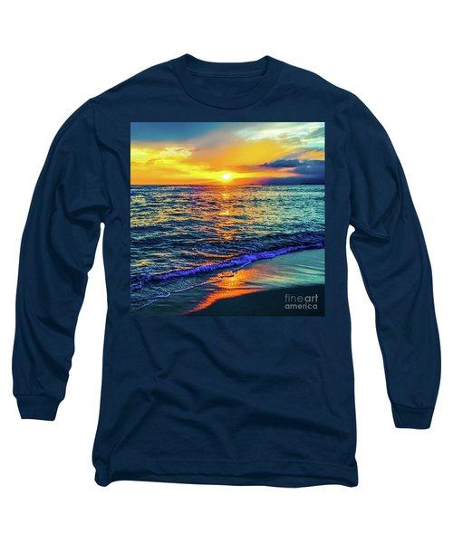 Hawaii Beach Sunset 149 Long Sleeve T-Shirt