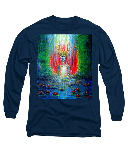 Long Sleeve T-Shirt featuring the painting Healing Waters by Heather Calderon