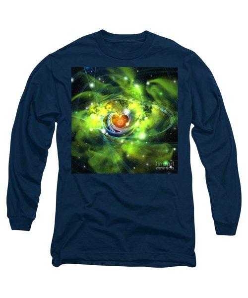 Heart Nebula Long Sleeve T-Shirt