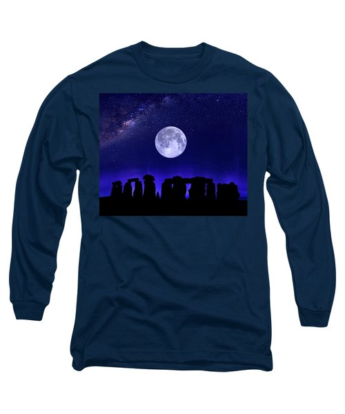 Henge Under The Supermoon Long Sleeve T-Shirt