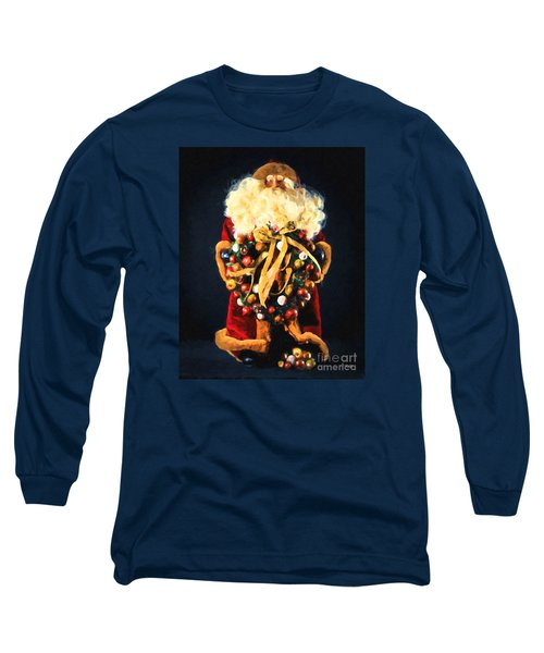 Long Sleeve T-Shirt featuring the painting Here Comes Santa by Chris Armytage