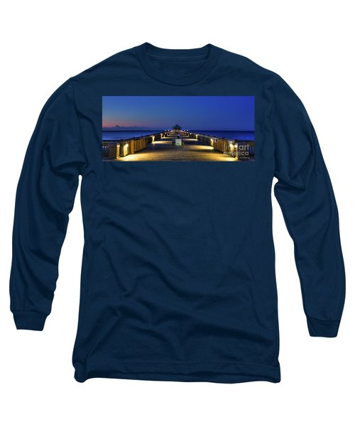 Long Sleeve T-Shirt featuring the photograph Here It Comes Now Folly Beach Pier Sunrise Art by Reid Callaway