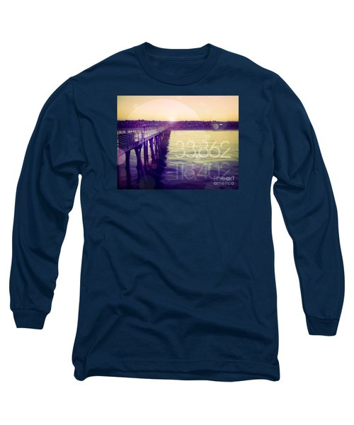 Long Sleeve T-Shirt featuring the photograph Hermosa Beach California by Phil Perkins