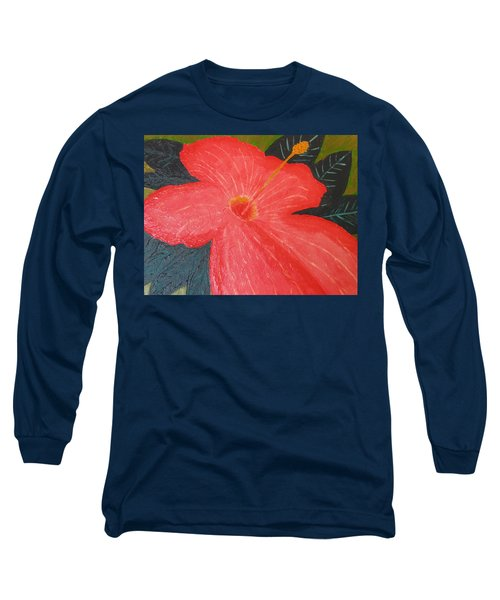 Hibiscus Long Sleeve T-Shirt by Barbara Yearty