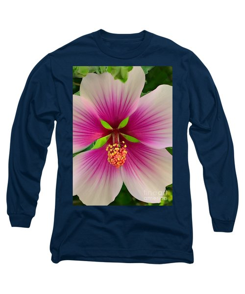 Hibiscus Face Long Sleeve T-Shirt