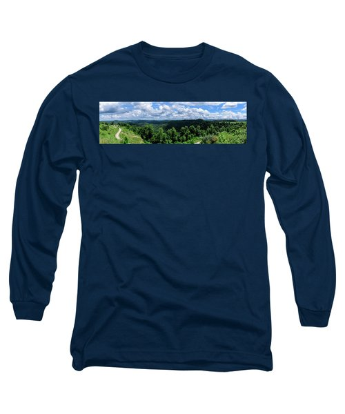 Hills And Clouds Long Sleeve T-Shirt