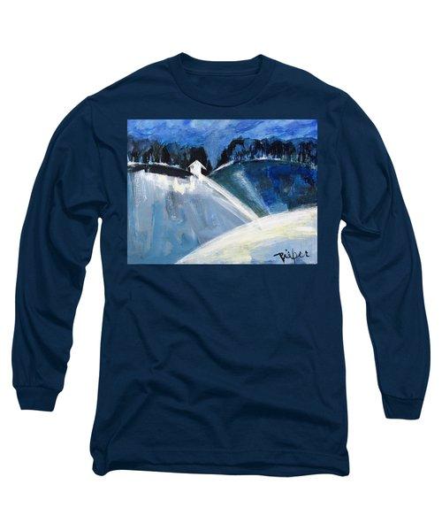 Hillside In Winter Long Sleeve T-Shirt